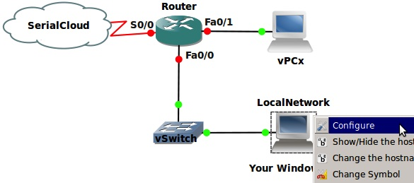 Linking your Host PC and Guest OS to devices in GNS3