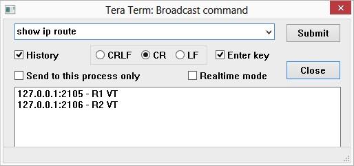 TeraTerm Broadast Input
